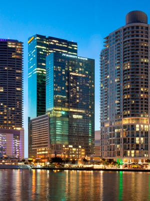 Stunning views offered by the JW Marriott Marquis located in downtown Miami.
