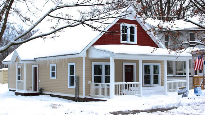 A home Habitat for Humanity of Ontario County recently completed in Canandaigua, designed by Identity Design, PLLC.