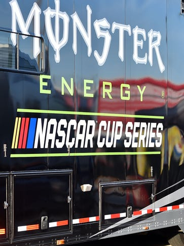 A detailed view of the new Monster Energy NASCAR Cup
