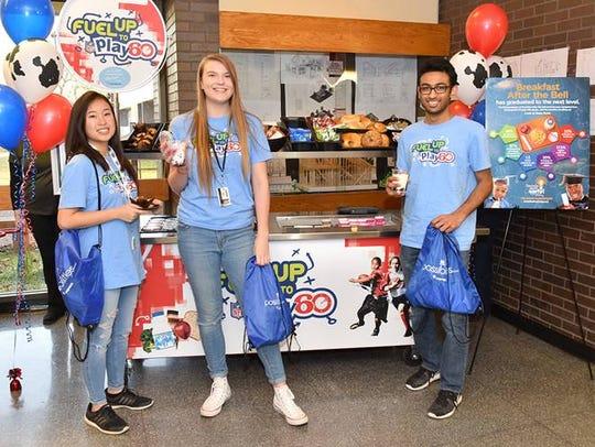 Students at Piscataway High School enjoy breakfast