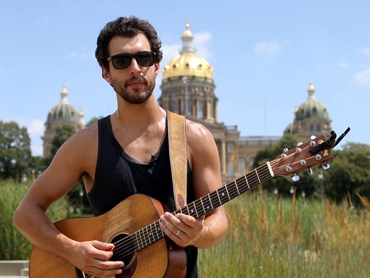 Singer-songwriter Dan Tedesco is the latest artist to be featured in the Juice Side Sessions music series, performing on the Iowa State Capitol's West Terrace in Des Moines.