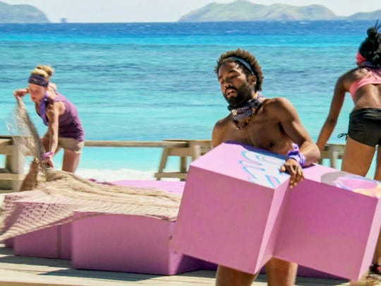 Angela Perkins and Wendell Holland on the tenth episode of Survivor: Ghost Island.