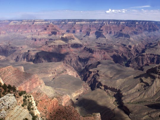 This is a view of the Grand Canyon from Mather Point,