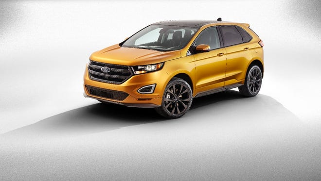 A three-row version of this  Ford Edge will be built at a new plant in China for the domestic market.