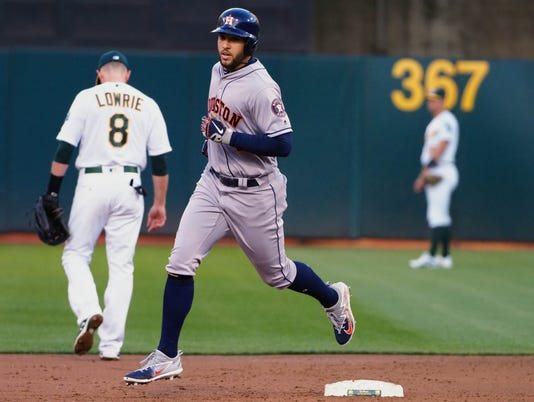 MLB: Houston Astros at Oakland Athletics