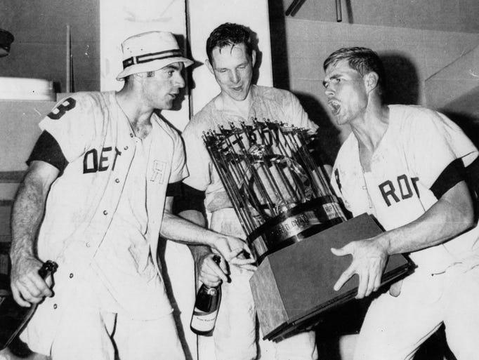 Dick McAuliffe, left, Jim Northrup, center, and Mickey