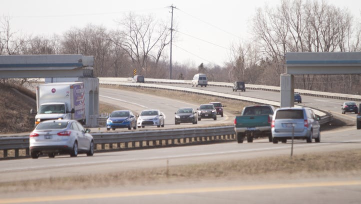 The 8-Mile Road overpass was taken down over the northbound