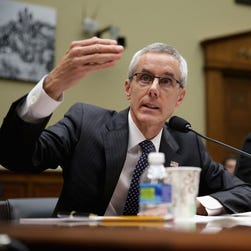 Transportation Security Administration Adminstrator Peter Neffenger testifies Nov. 3, 2015, at  the House Oversight and Government Reform Committee about lapses in TSA screening.