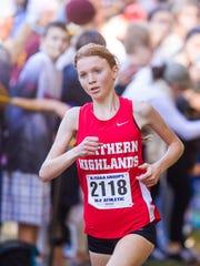 Isabel Hebner finished second for Northern Highlands in the 3,200 meters at the Big North Freedom championships.