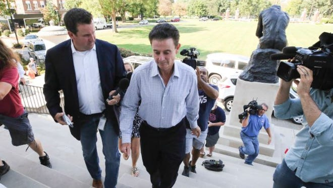 Louisville basketball coach Rick Pitino and athletic director Tom Jurich were fired Wednesday.