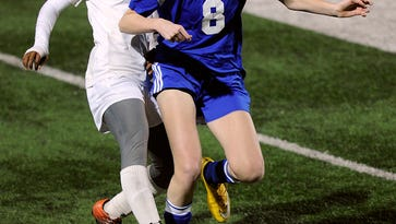 Abilene High's Finda Kollie (7) steals the ball away from Weatherford's Abbie Griffin (8) during the first half of the Lady Eagles' 5-0 win on Friday, Feb. 3, 2017, at Shotwell Stadium. Kollie scored three goals in the game.