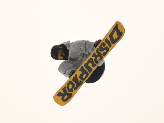 Kyle Mack competes in the men's snowboarding slopestyle qualifications during the 2018 Olympic Winter Games at Phoenix Snow Park on Feb 10, 2018.