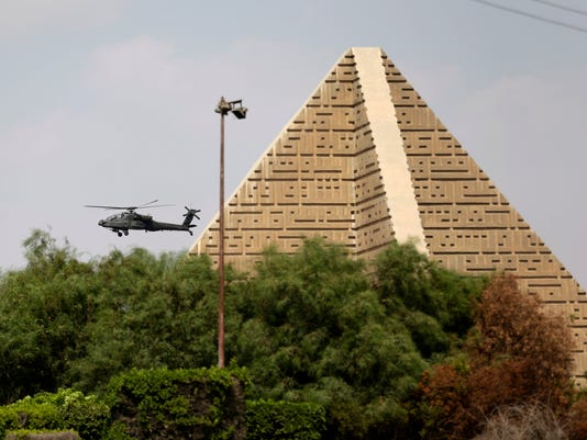 egypt funeral helicopter