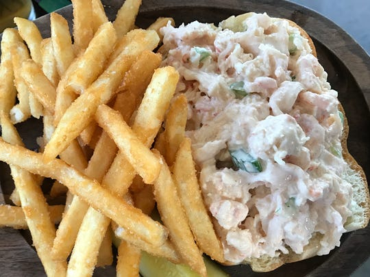 The lobster and shrimp roll at Murphy's Law was made