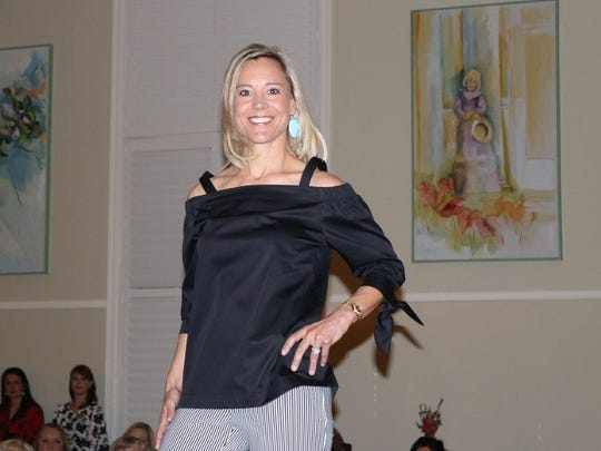Angel Poorman at the Community Foundation of Abilene's style show, held March 2 at the Abilene Woman's Club.
