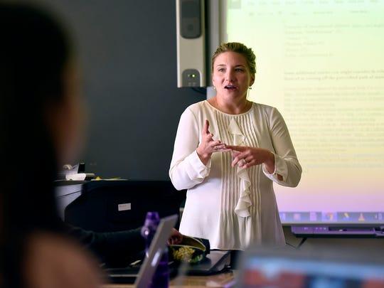 Tenafly High School AP English teacher Lauren Malanka