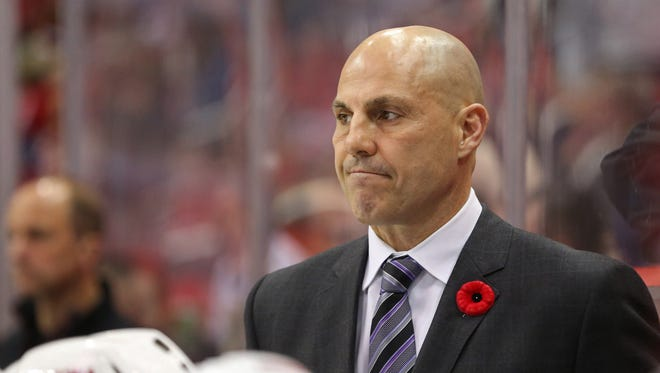 Rick Tocchet hasn't had much to smile about in his first season as Coyotes coach.