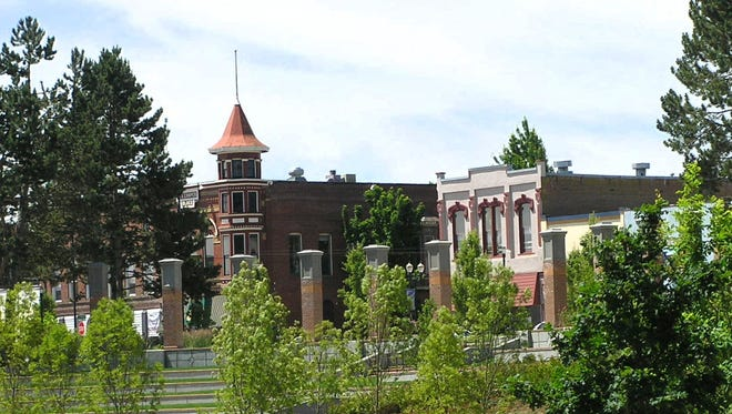 The turret of the J.S. Cooper Building seen from Riverview Park Amphitheater in downtown Independence in 2008. For its restoration of the historic building, the J.S. Cooper Block Restoration will receive an Oregon Heritage Excellence Award on May 5 at the Trinity Ballroom, Reed Opera House.