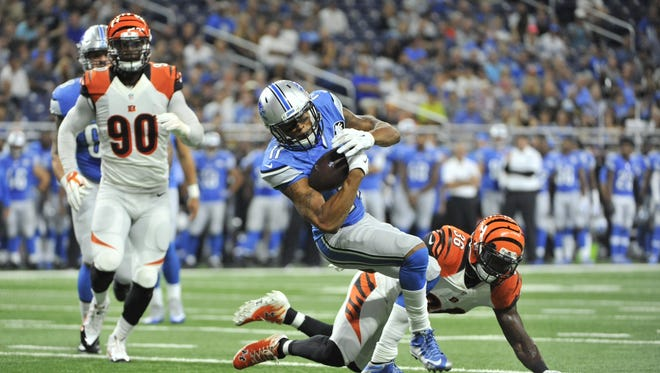 Detroit Lions wide receiver Marvin Jones has benefitted from the no-huddle offense.