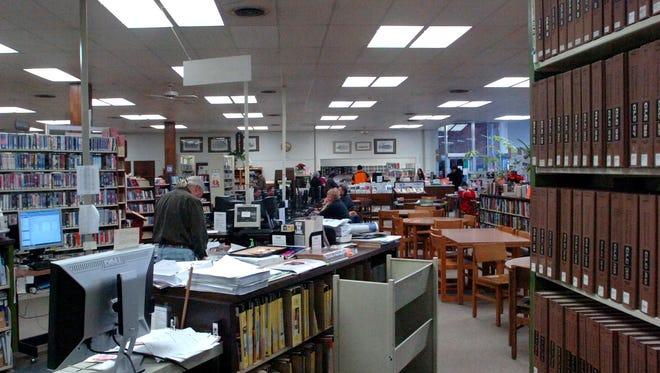 Inside the Vestal Public Library.