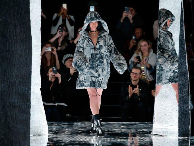 Rihanna walks the runway at the FENTY PUMA by Rihanna