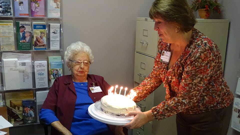 A special birthday party held for Golden Threads volunteer