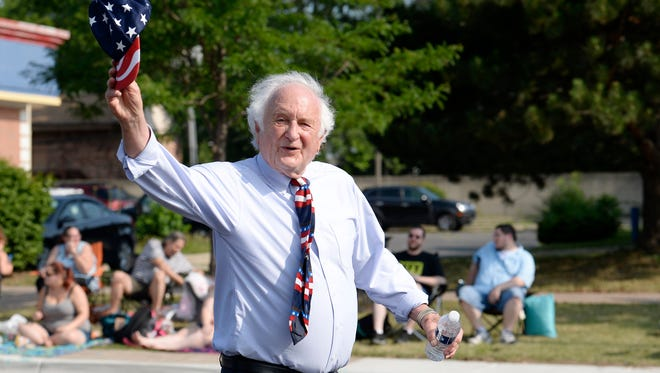 Retiring U.S. Rep. Sander Levin, D-Royal Oak, waves during a Fourth of July parade earlier this year. He served 36 years in Congress -- 32 of them with his younger brother, former U.S. Sen. Carl Levin of Detroit.