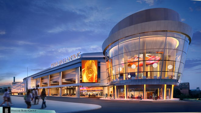 Plans for the Kewadin Lansing Casino call for up to 3,000 slot machines, 48 table games and several bars and restaurants. The project didn't receive federal approval this week.