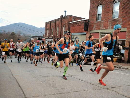 The 2018 Mount Mitchell Challenge and Black Mountain Marathon got underway at 7 a.m. on Feb. 24, when hundreds of runners headed north on Cherry Street toward Montreat.