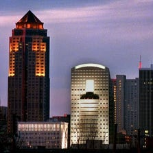 Register Photo The Des Moines Skyline Featuring The