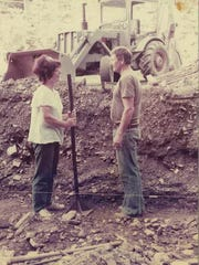 Sheila and Raymond Correll build their earth sheltered