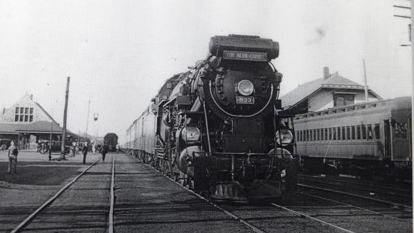 In this undated photo, The Blue Comet makes a scheduled stop at the old train station in Lakewood, which was located at Monmouth Avenue and 2nd Street.