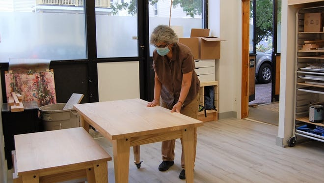 Alice Turkel, of Cambridge, a veteran woodworking artist, will be joined by art teacher Aleigha Howland, of Brockton, on Nov. 2 to offer art and maker classes to children and adults. The building, known as The Sculptor's Work Shop, already houses the studios of several local artists, including renowned woodworker and playground designer, Mitch Ryerson.