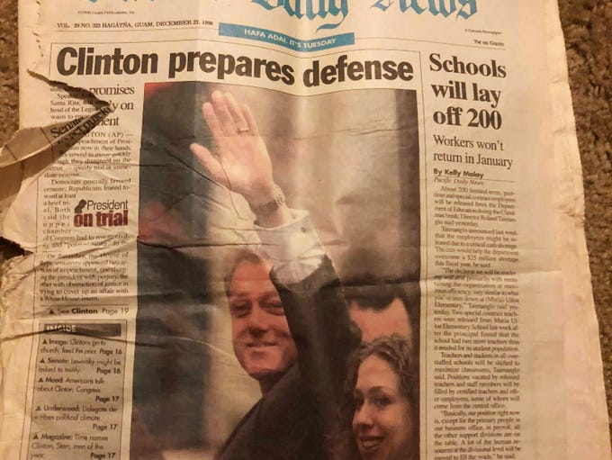 The front page of the Dec. 22, 1998 edition of the