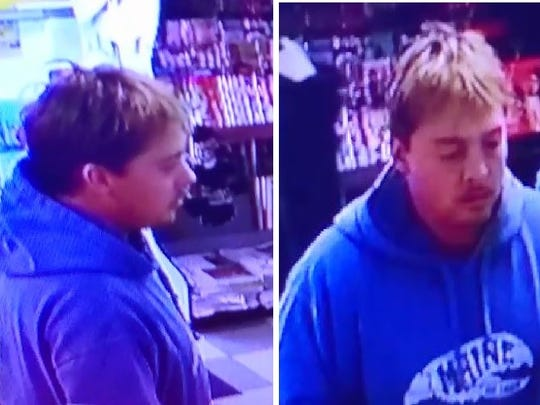 Police say this man stole lottery tickets from a Route 12 gas station in Delaware Township.