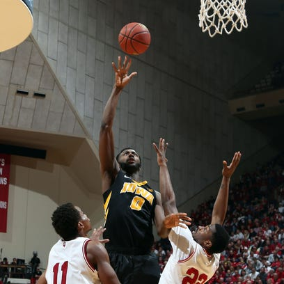 Gabe Olaseni part of a senior class that has played a significant role in rebuilding Iowa's basketball program.