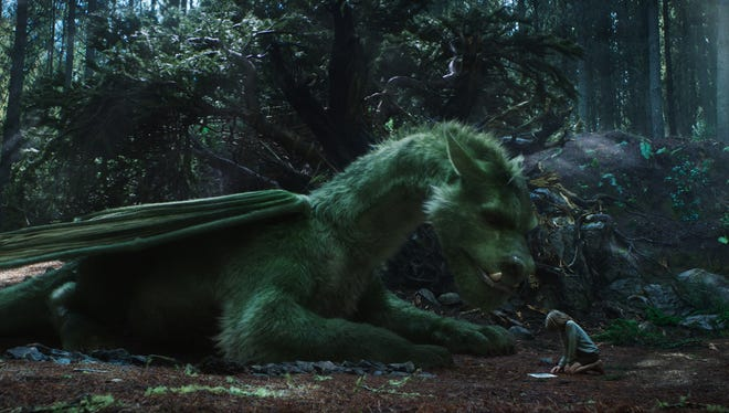 Elliot and Pete (Oakes Fegley) in 'Pete's Dragon.'