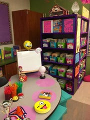 Sara Moser, a third grade teacher at Benjamin Chambers Elementary School, spent 18 hours over the summer working on getting her classroom ready for the start of the school year.