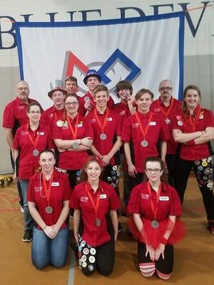 The St. Clair High School Flurb team was a finalist at a FIRST Robotics event.