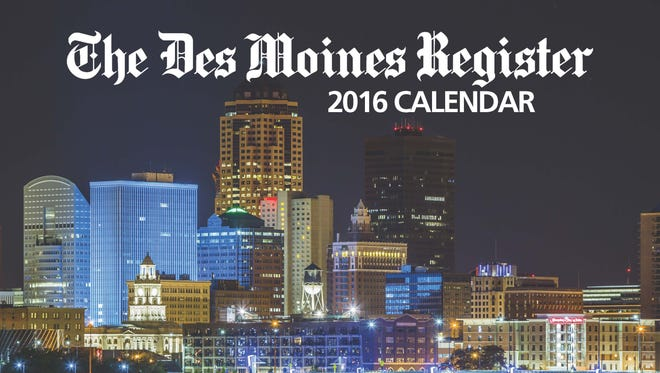 The Des Moines Register's 2016 calendar.