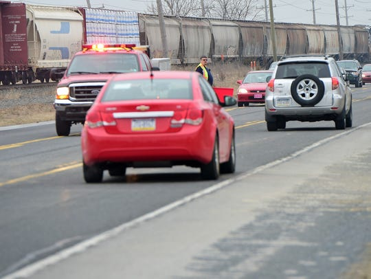 This photo shows how close the railroad is to U.S. 11. It was taken on March 25, 2015, after a tractor-trailer and train collided at the crossing on Lighthouse Road.
