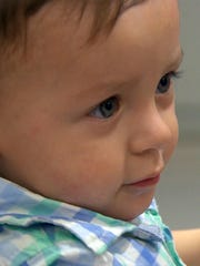Moses Cushman, now a year old, was switched at birth
