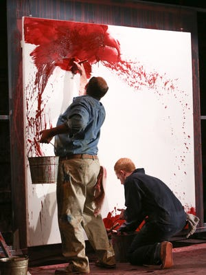 Stephen Caffrey and John Ford-Dunker in Red. Photo by Ken Huth.