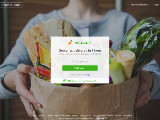 You can place orders through Instacart's website and