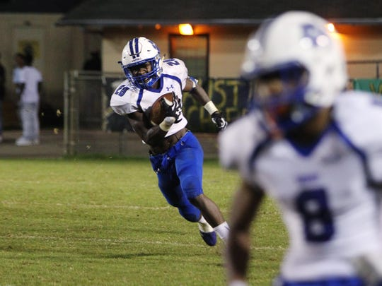 Godby running back Tyquan Watson gashed the Lincoln defense to the tune of 251 yards and three touchdowns, including this 92-yarder, but it wasn't enough in a 42-34 defeat.