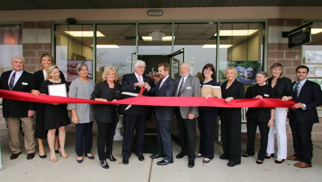 Special Properties Real Estate Services' Mahwah office ribbon cutting ceremony with Mahwah Mayor Bill Laforet.