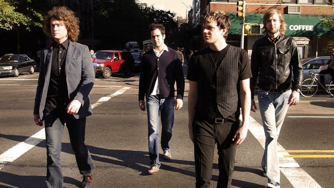 Music group The Killers are photographed on Oct. 4, 2004, on the streets in New York. From left are Dave Keuning, Ronnie Vannucci, Brandon Flowers and  Mark Stoermer. Oct. 4, 2004, was columnist Chris Shields' first day at the St. Cloud Times.