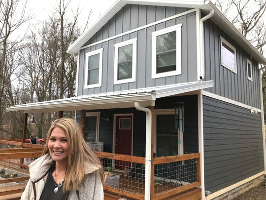 Delias Thompson and her partner, Lowell Parris, built two lots in West Asheville and built this 1,200 square foot home. Total investment on the house came to about $225,000, which Thompson considers a great deal for West Asheville.