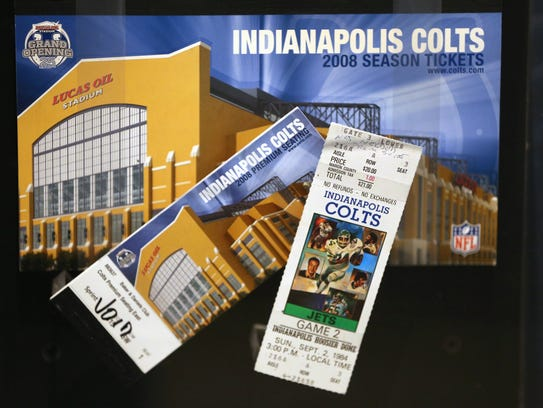 A ticket to the first Colts game in Indianapolis at