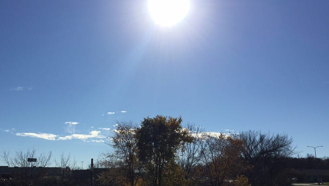 Sunshine came with temperatures in the 60s on Sunday, Nov. 6, in St. Cloud.